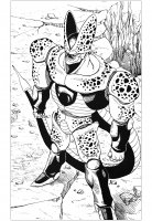 coloring-page-inspired-by-dragon-ball-Z-cell-character free to print