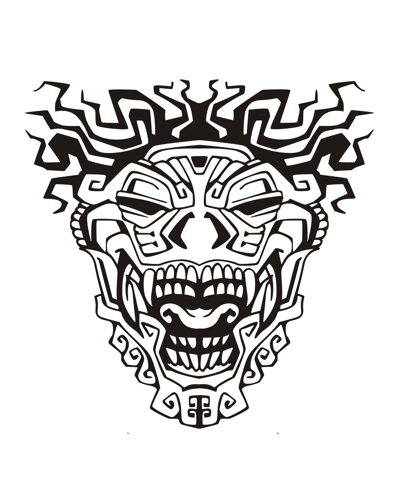 Mayans & Incas - Coloring pages for adults : coloring