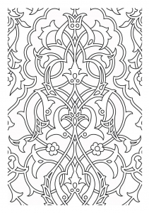 coloring-patterns-medievaux free to print