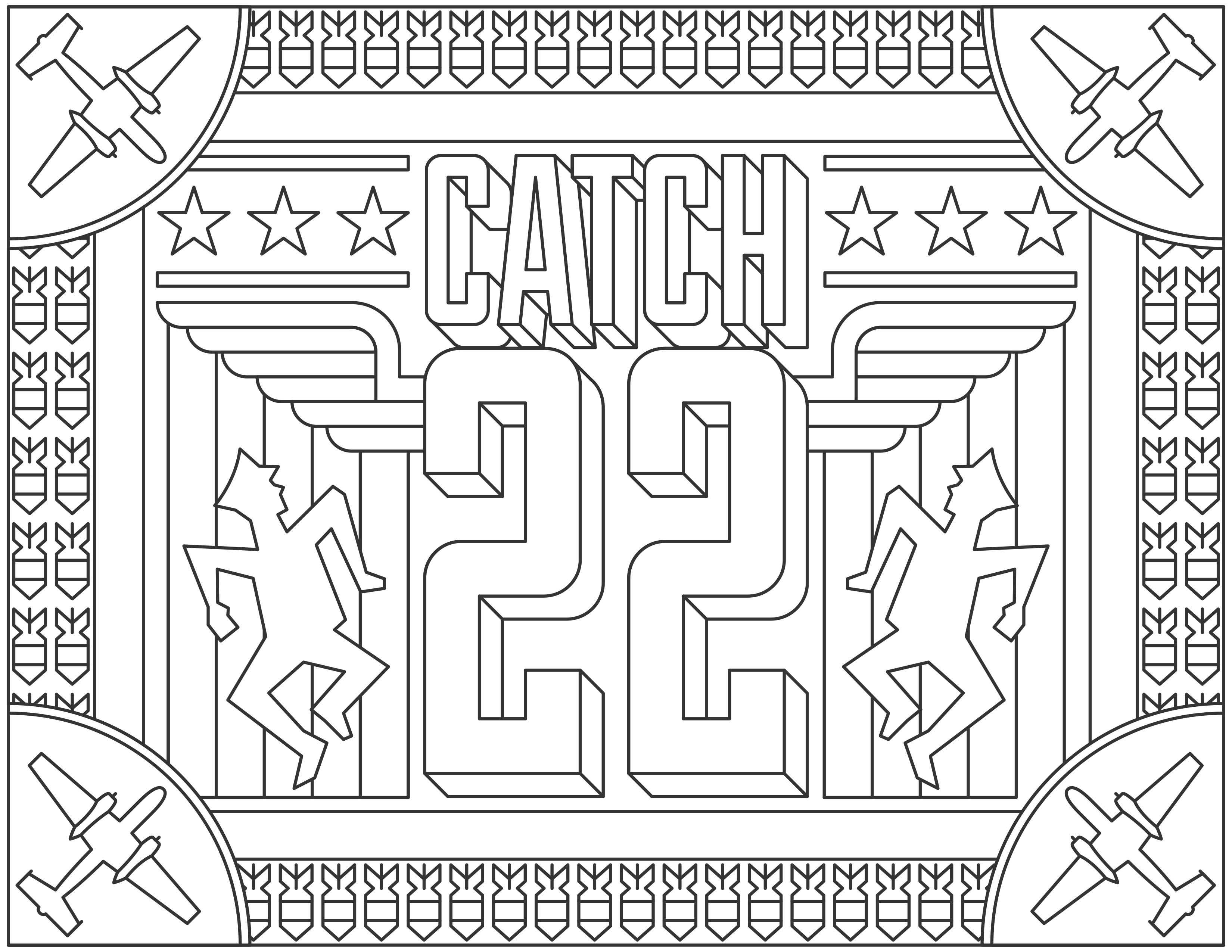 Movies coloring pages for adults coloring adult catch 22 Coloring book poster