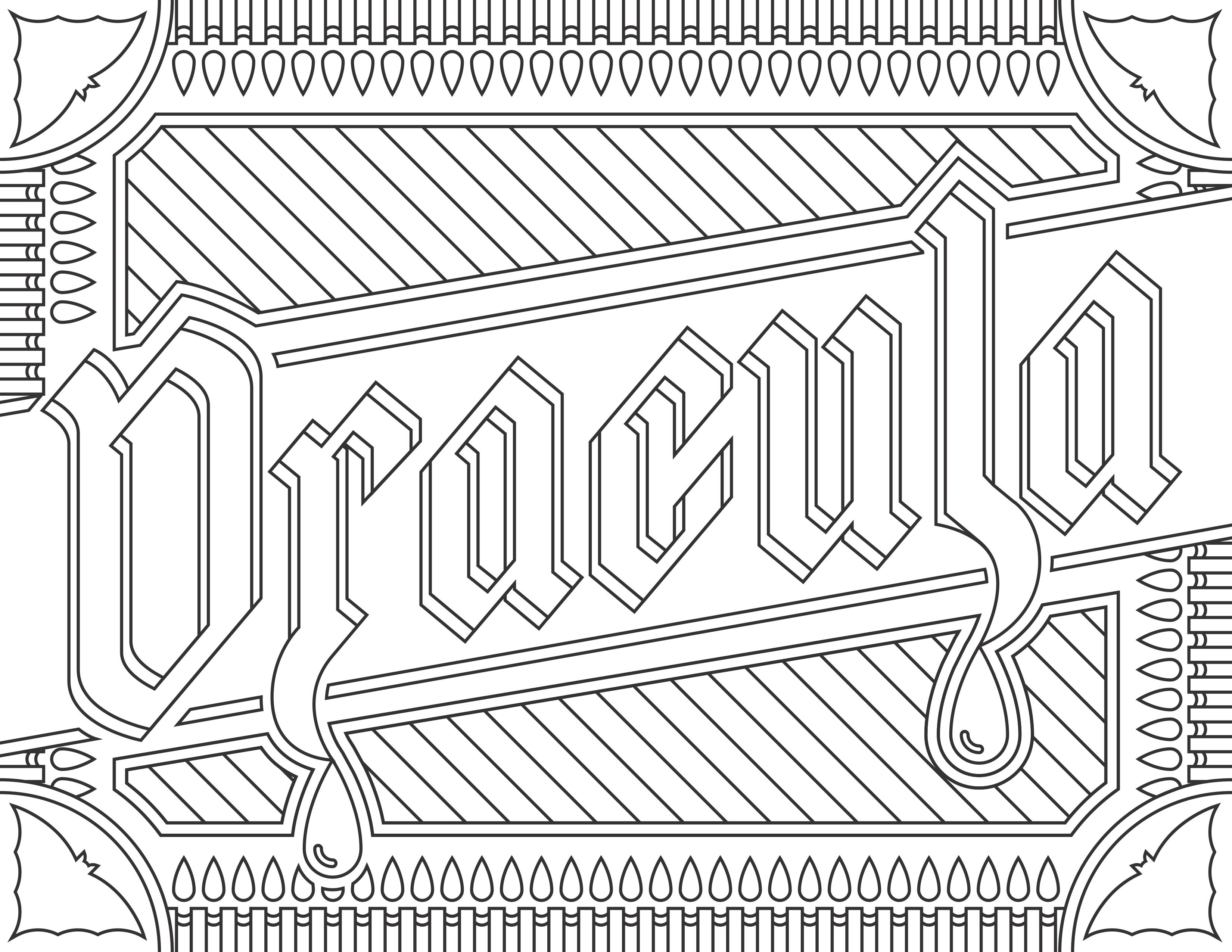Coloring Pages For Adults : Coloring-adult-Dracula