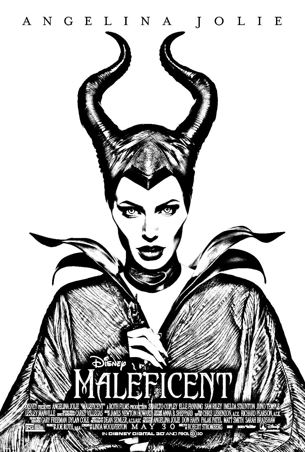 Movie Maleficent Coloring Pages