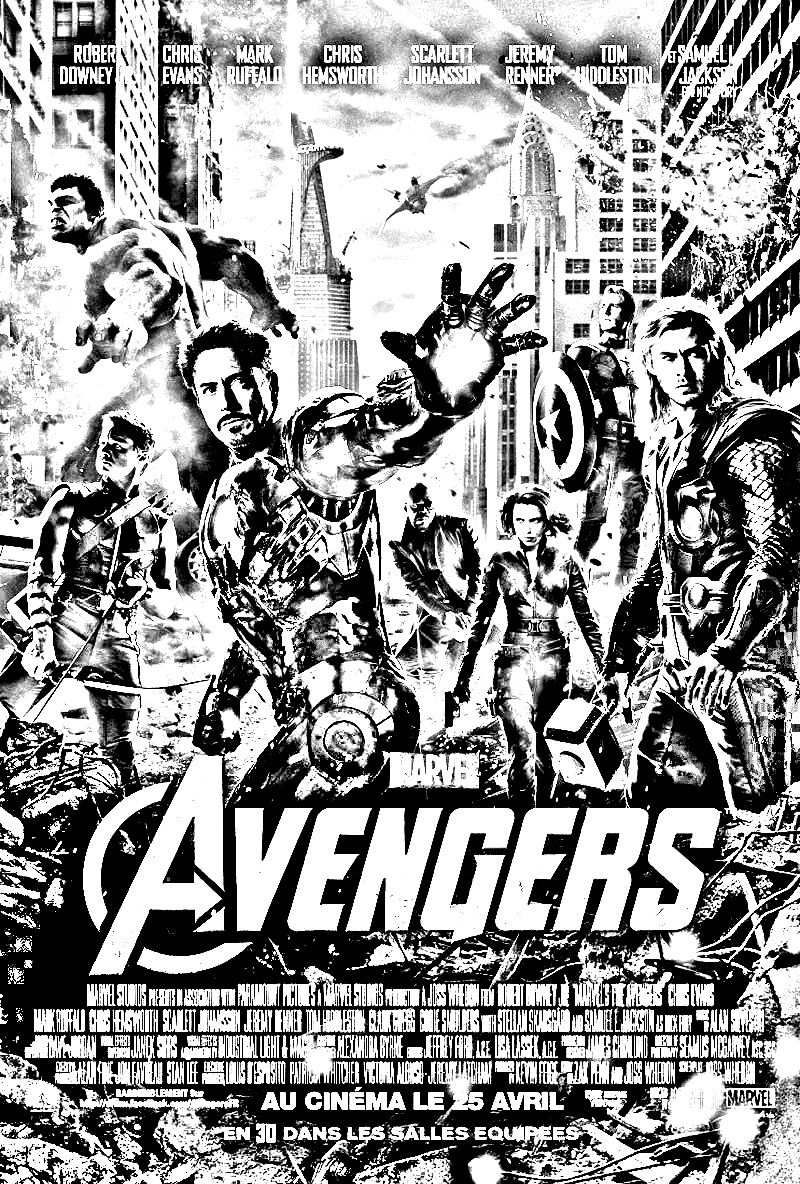 Avengers Movie Coloring Pages Printable : Movies coloring pages for adults movie avengers