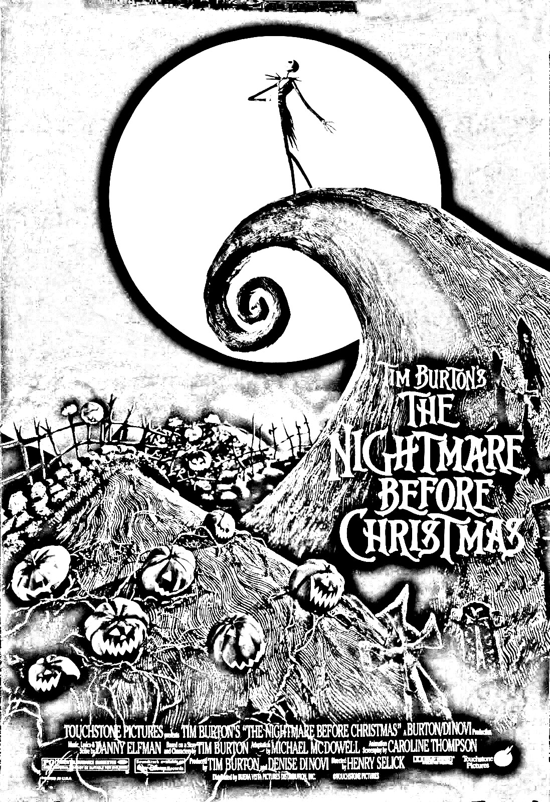Free printable coloring pages nightmare before christmas - Top 25 Nightmare Before Christmas Coloring Pages For Your Little