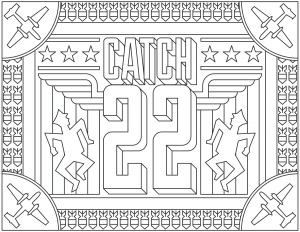 coloring-adult-Catch-22 free to print