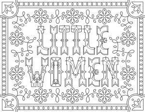 coloring-adult-Little-Women free to print