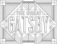 coloring-adult-The-Great-Gatsby free to print