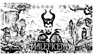coloring-maleficent-disney-characters free to print
