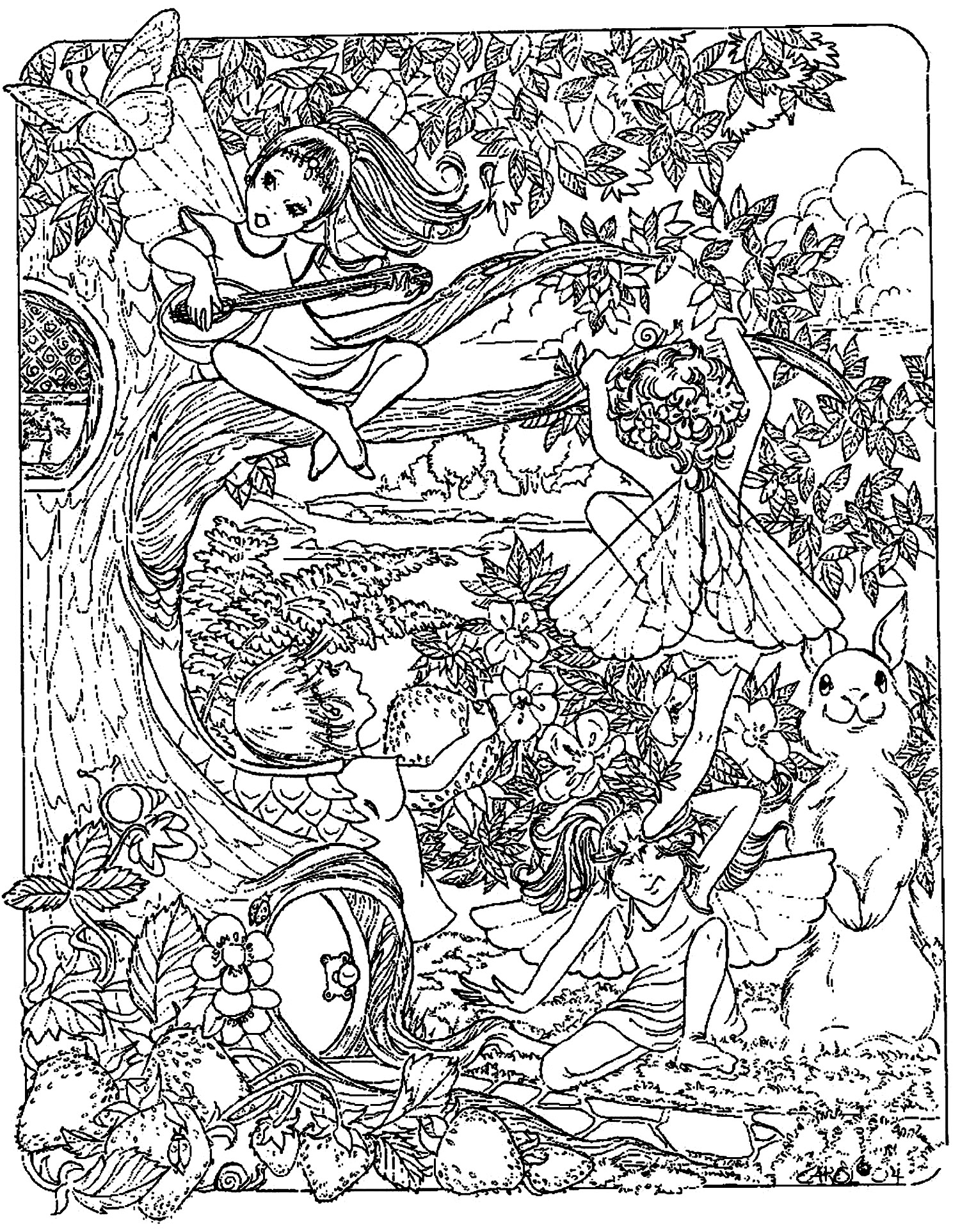 adult fantasy coloring pages - photo#28