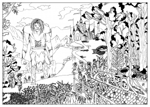 coloring-page-adult-Coloring-terabithia-by-valentin free to print