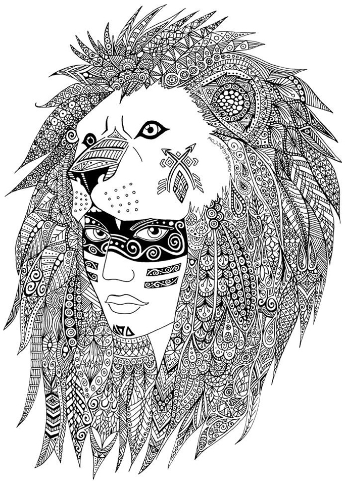Native American Coloring Pages For Adults Coloring page native