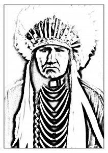 coloring-adult-native-american-indian free to print