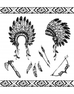 coloring-adult-native-american-symbols free to print