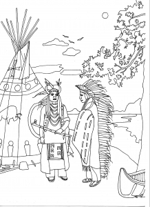coloring-adult-two-native-americans-by-marion-c free to print