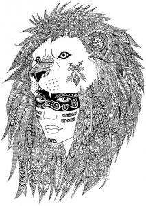 coloring-page-native-amircan-sabrina free to print