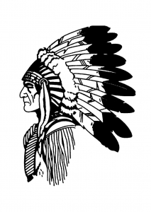coloring-simple-native-american-profile free to print