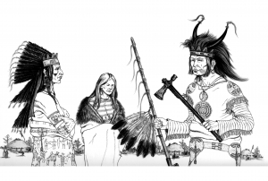 coloring-three-indians free to print