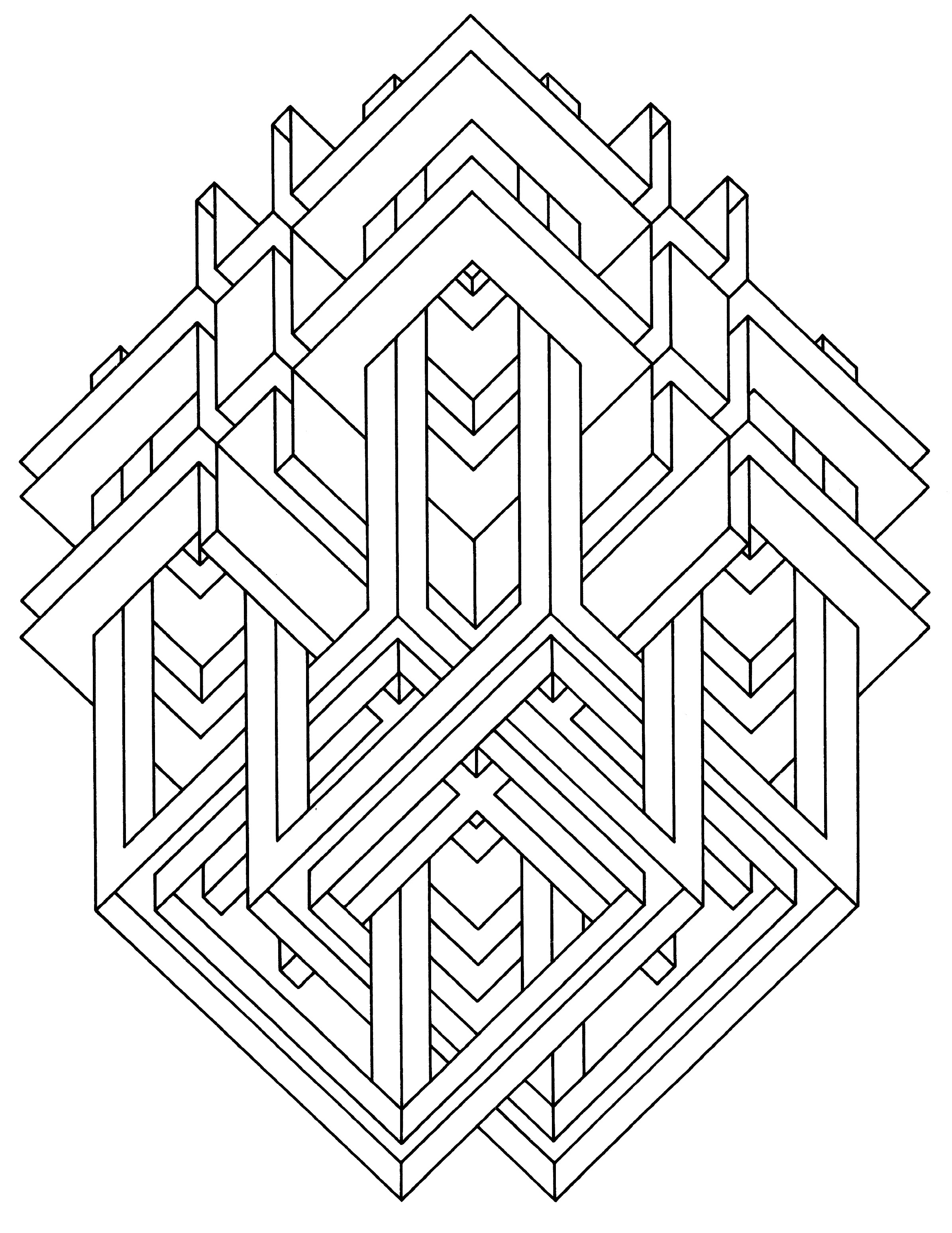 vasarely coloring pages - photo#27