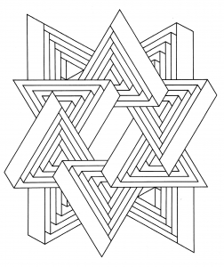 coloring-op-art-jean-larcher-11 free to print