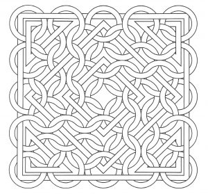 coloring-op-art-jean-larcher-15 free to print