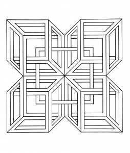 coloring-op-art-jean-larcher-3 free to print