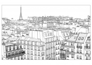 coloring-page-adults-paris free to print