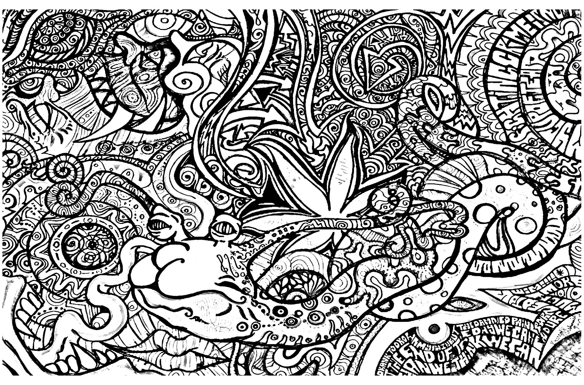 Psychedelic - Coloring pages for adults : coloring ...