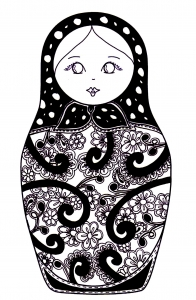 coloring-russian-dolls-10 free to print