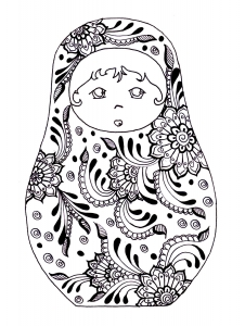 coloring-russian-dolls-13 free to print