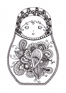 coloring-russian-dolls-2 free to print