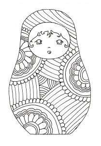 coloring-russian-dolls-9 free to print