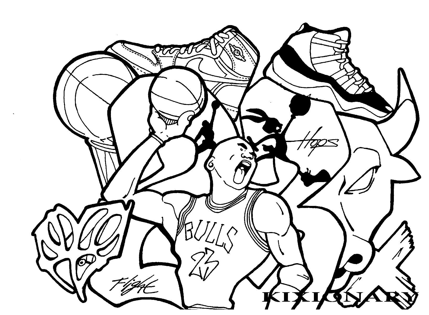 Graffiti and Street Art - Coloring pages for adults ...