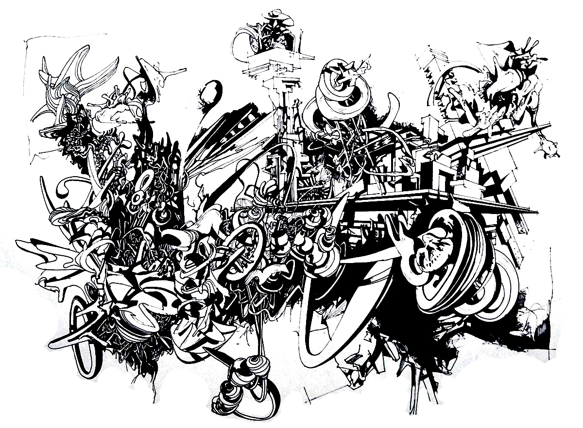 Graffiti and street art coloring pages for adults - Coloriage graffiti ...