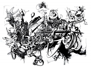 coloring-adult-graffiti free to print