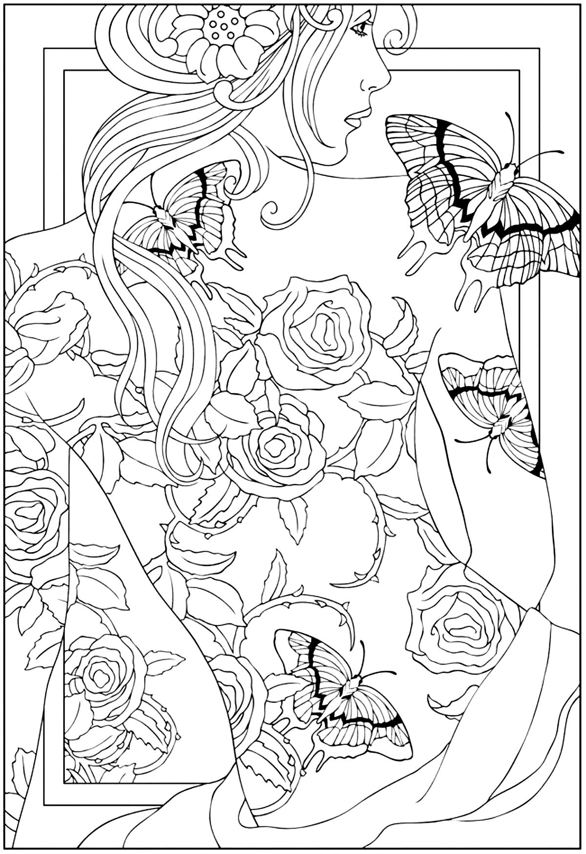 Coloring Pages Tattoos Coloring Pages tattoos coloring pages eassume com for adults adult back tattooed