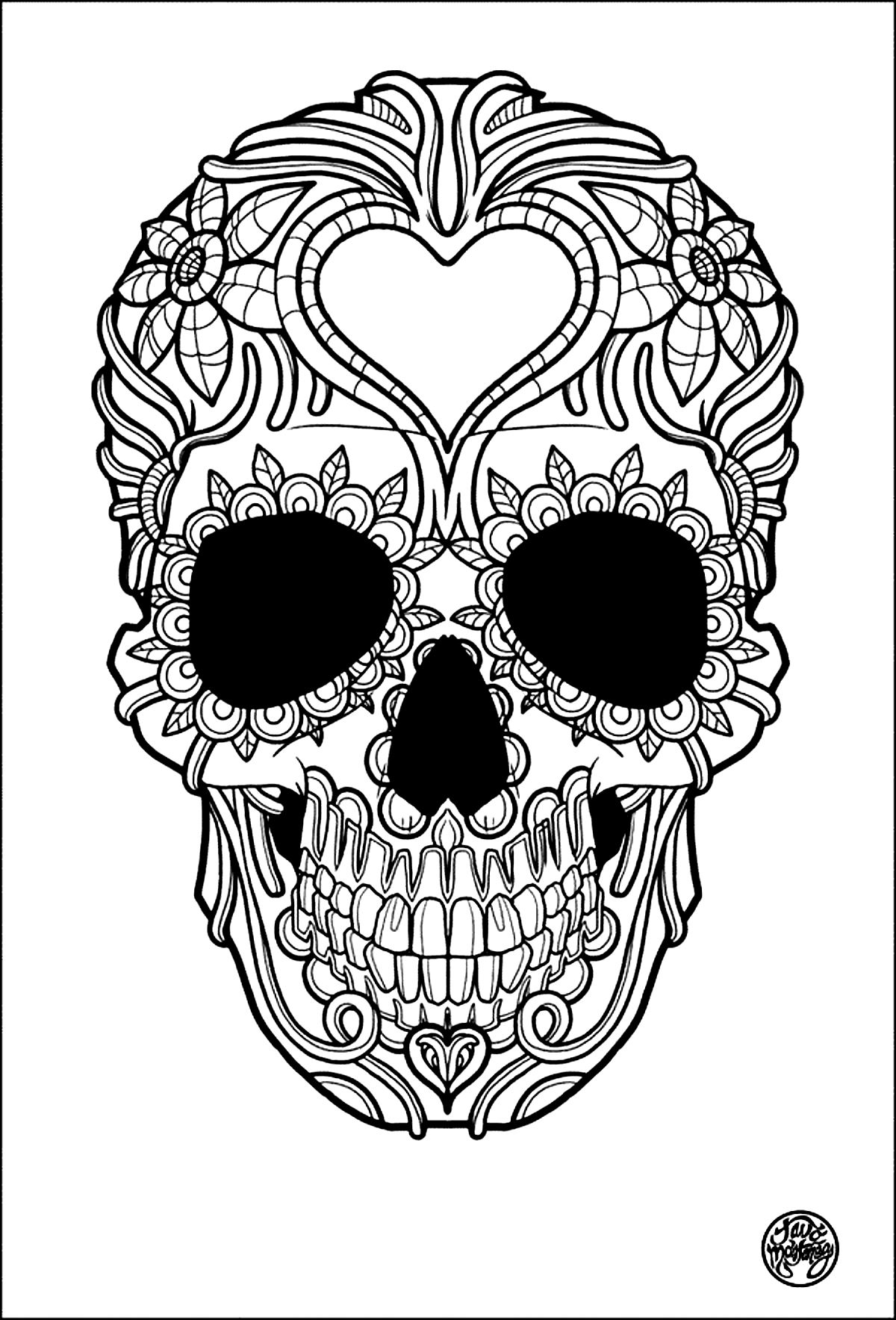 Tattoos Coloring pages for adults coloringadult