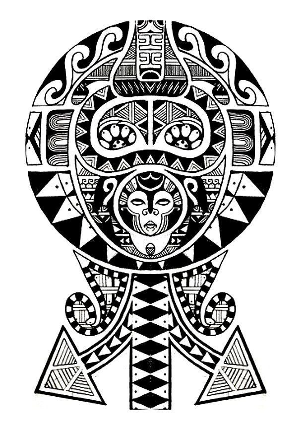 tattoos coloring pages for adults coloring tatouage polynesien. Black Bedroom Furniture Sets. Home Design Ideas