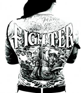 coloring-tatouage-back free to print