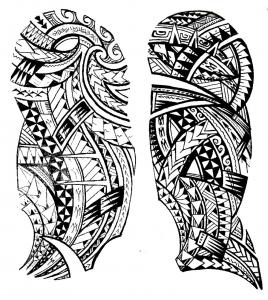 coloring-tatouage-maori free to print