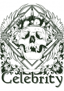 coloring-adult-tattoo-skeleton-celebrity free to print