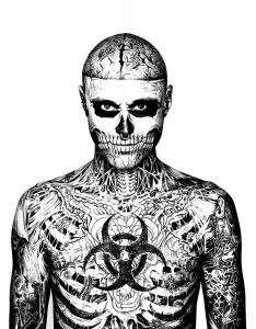 coloring-rick-genest-face-chest free to print