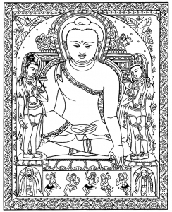 coloring-adult-tibetain-bouddha free to print