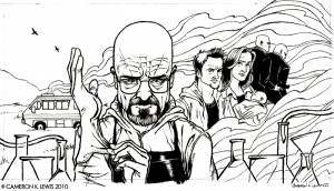 coloring-adult-breaking-bad-dessin free to print