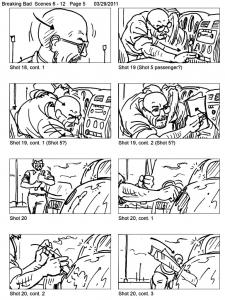 coloring-adult-breaking-bad-storyboard free to print