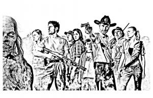 coloring-adult-the-walking-dead free to print