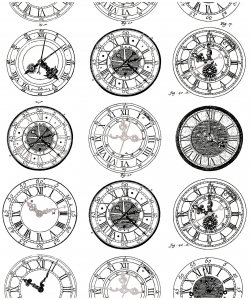 coloring-difficult-anciennes-montres free to print