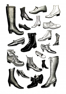 coloring-vintage-shoeses free to print
