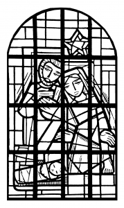 coloring-adult-stained-glass-nave-church-immaculee-conception-mangombroux-verviers-france free to print