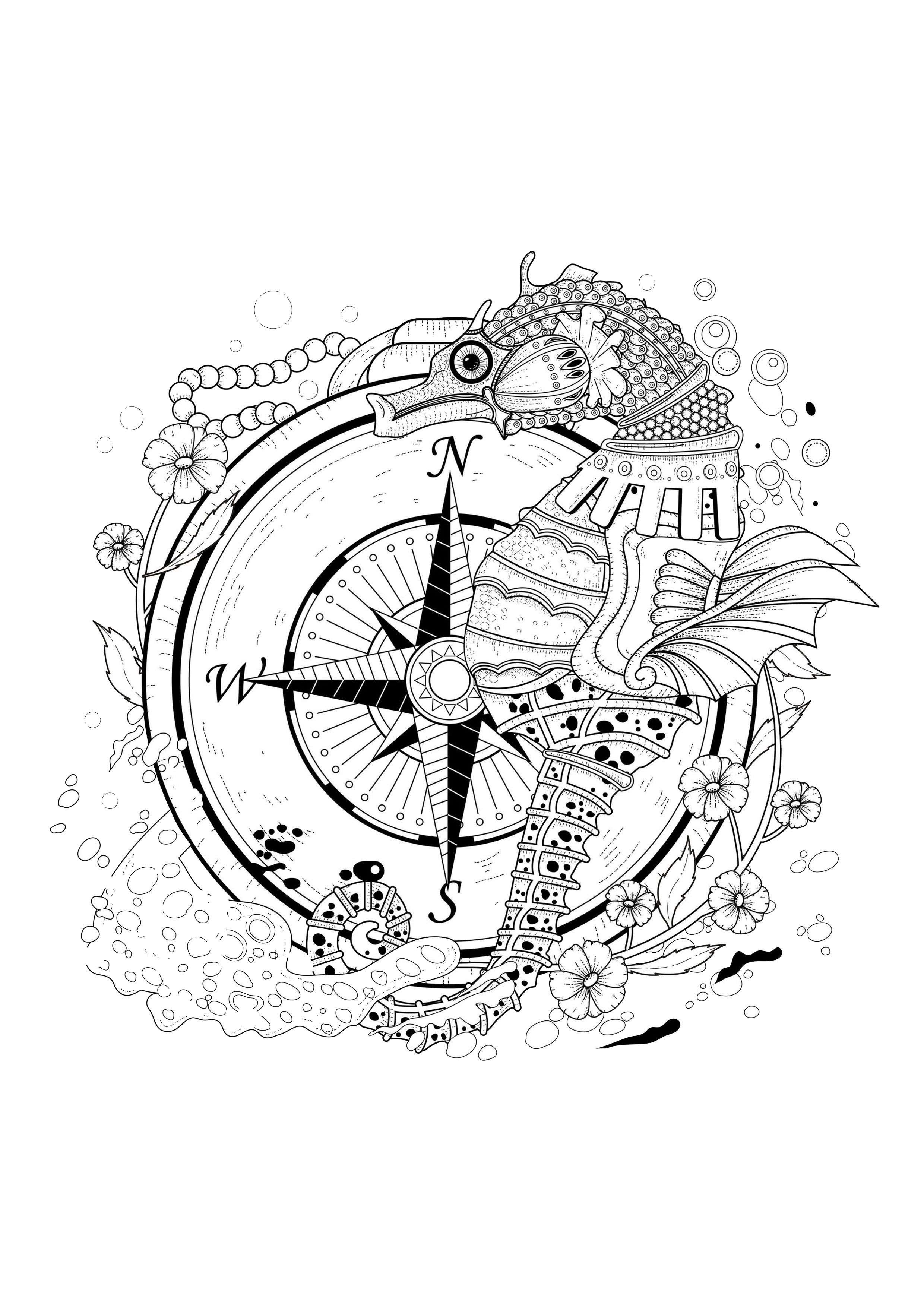 Water worlds coloring pages for adults coloring page Coloring book with water
