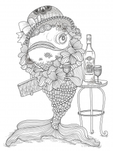 coloring-page-adults-fish-humour free to print
